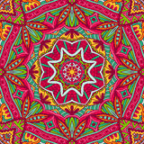 Abstract festive colorful mandala vector ethnic tribal pattern. Abstract geometric mosaic vintage ethnic seamless pattern ornamental Stock Photos