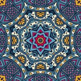 Abstract festive colorful mandala vector ethnic tribal pattern. India Festival Ethnic geometric print. Colorful Tribal art background texture. Fabric, cloth Royalty Free Stock Photography