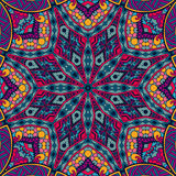 Abstract festive colorful mosaic vector ethnic tribal pattern Royalty Free Stock Images