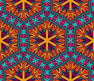 Abstract festive colorful vector ethnic pattern. Abstract geometrical festive colorful vector ethnic tribal pattern Royalty Free Stock Photos