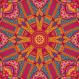 Abstract festive colorful vector ethnic pattern Stock Photography