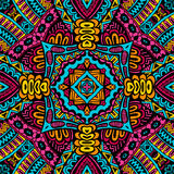 Abstract festive colorful  vector tribal pattern Royalty Free Stock Photo