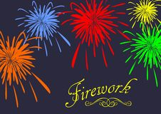 Abstract festive fireworks background. Vector Stock Photography
