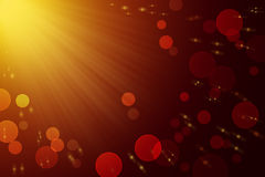 Abstract festive gold background. Christmas. Lights. Rays. Stock Photo