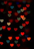 Abstract festive heart bokeh background Royalty Free Stock Photography