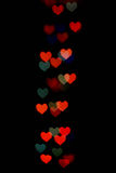 Abstract festive heart bokeh background Royalty Free Stock Image