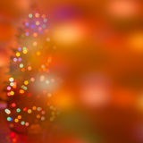 Abstract festive light background. Festive abstract  art. Christmas Tree lights and decoration bokeh blurred out of focus background Stock Photos