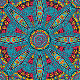 Abstract festive mandala ethnic tribal pattern. Abstract Tribal vintage colorful ethnic seamless pattern ornamental Royalty Free Stock Photo