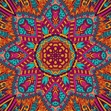 Abstract festive mandala flower ornamental. Abstract Tribal vintage ethnic seamless pattern ornamental. Festive colorful background design Royalty Free Stock Images