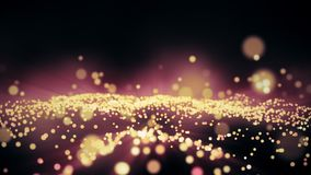 Abstract festive motion background with shining gold particles seamless loop