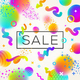 Abstract festive multicolored background. With sale banner Royalty Free Stock Image