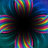 Abstract festive rainbow background. Clip-art Royalty Free Stock Image