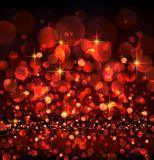 Abstract festive red luminous background. Vector illustration Stock Images