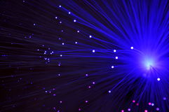 Abstract fiber optics background Stock Photography
