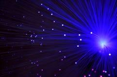 Abstract fiber optics background Stock Photography