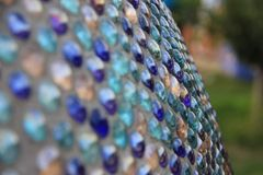 Abstract field of blue balls with reflecions royalty free stock photography