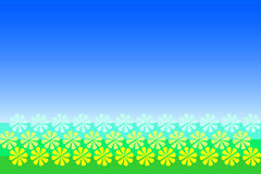 Abstract field of flowers Royalty Free Stock Photography