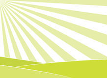 Abstract field and sun rays background. Abstract light green field and sun rays in the sky background. EPS8 vector illustration Royalty Free Stock Photography