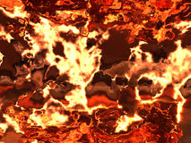 Abstract fiery background Stock Image