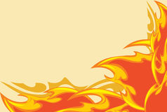 Abstract fiery background. Abstract bright fiery background. Illustration Royalty Free Stock Photo