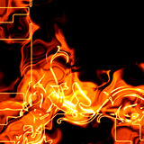 Abstract fiery background. Illustration with hot flames Royalty Free Stock Photos