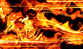 Abstract fiery background. Illustration with hot flames Royalty Free Stock Images