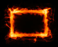 Abstract fiery background. With texture in center Royalty Free Stock Photography