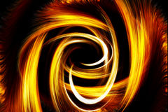 Abstract fiery circle on a black background Royalty Free Stock Images