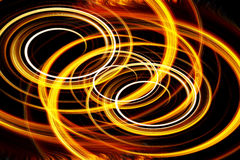 Abstract fiery circle on a black background Stock Photo