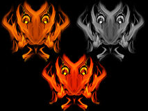 Abstract fiery devil faces Stock Photos