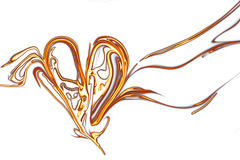 Abstract fiery heart. Marble of fiery abstract heart royalty free illustration