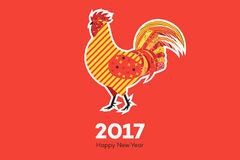 Abstract Fiery Rooster. Symbol Of 2017 New Year On The Chinese Calendar. Memphis Design Vector Illustration.  Royalty Free Stock Images