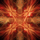 Abstract fiery star background. Fiery star pattern, abstract art for background Stock Image