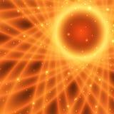 Abstract fiery sun Royalty Free Stock Photo