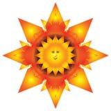 Abstract fiery sun Stock Photo