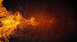 Abstract fiery threads. Fire outbreak on an abstract background from the sides Stock Image