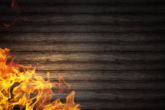 Abstract fiery threads. Fire outbreak on an abstract background from the sides Stock Photography