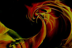 Abstract fiery wave Royalty Free Stock Images