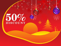 Abstract fifty percent discount background. Illustration Stock Images