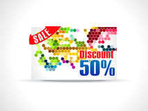 Abstract fifty percent discount card template. Illustration Stock Photos