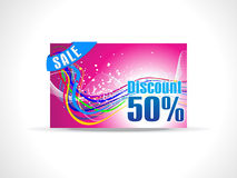 Abstract fifty percent discount card template. Illustration Stock Images