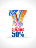 Abstract fifty percent discount card template Stock Image