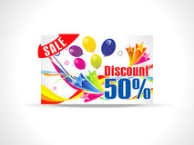 Abstract fifty percent discount card Stock Images