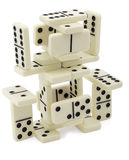 Abstract figure of dominoes Stock Photo