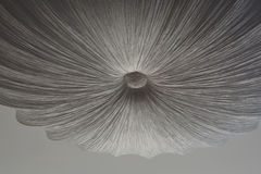 Abstract figure on a gray white ceiling Stock Image