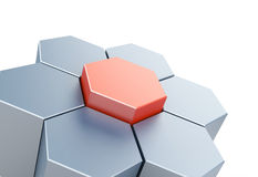 Abstract figure of hexagons Royalty Free Stock Photography