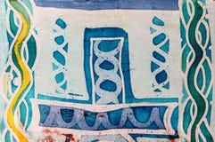 Abstract figure, hot batik, background texture, handmade on silk, surrealism art stock photography