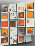 Abstract figure. Infographic numbered 3d Abstract figure Royalty Free Stock Photography