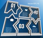 Abstract figure. Infographic numbered 3d Abstract figure Royalty Free Stock Image