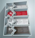 Abstract figure. Infographic numbered 3d Abstract figure Royalty Free Stock Images